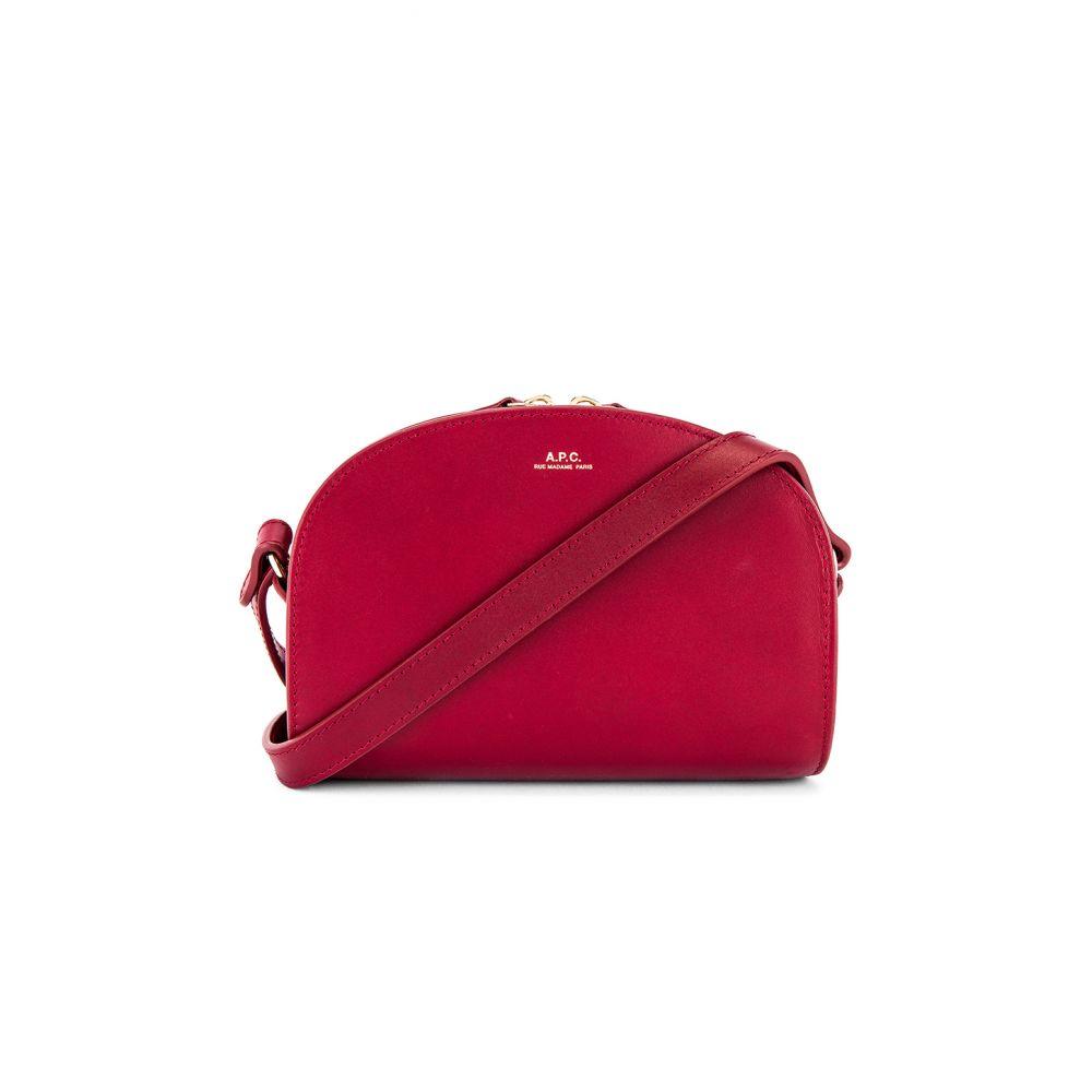 アーペーセー A.P.C. レディース バッグ 【Sac Demi Lune Mini Bag】Rouge Fonce