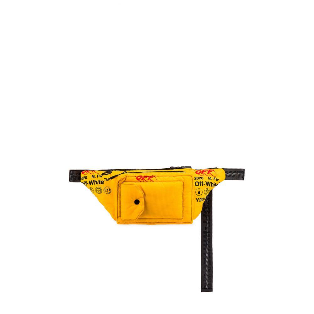 オフホワイト OFF-WHITE メンズ ボディバッグ・ウエストポーチ バッグ【Industrial Fanny Pack】Yellow