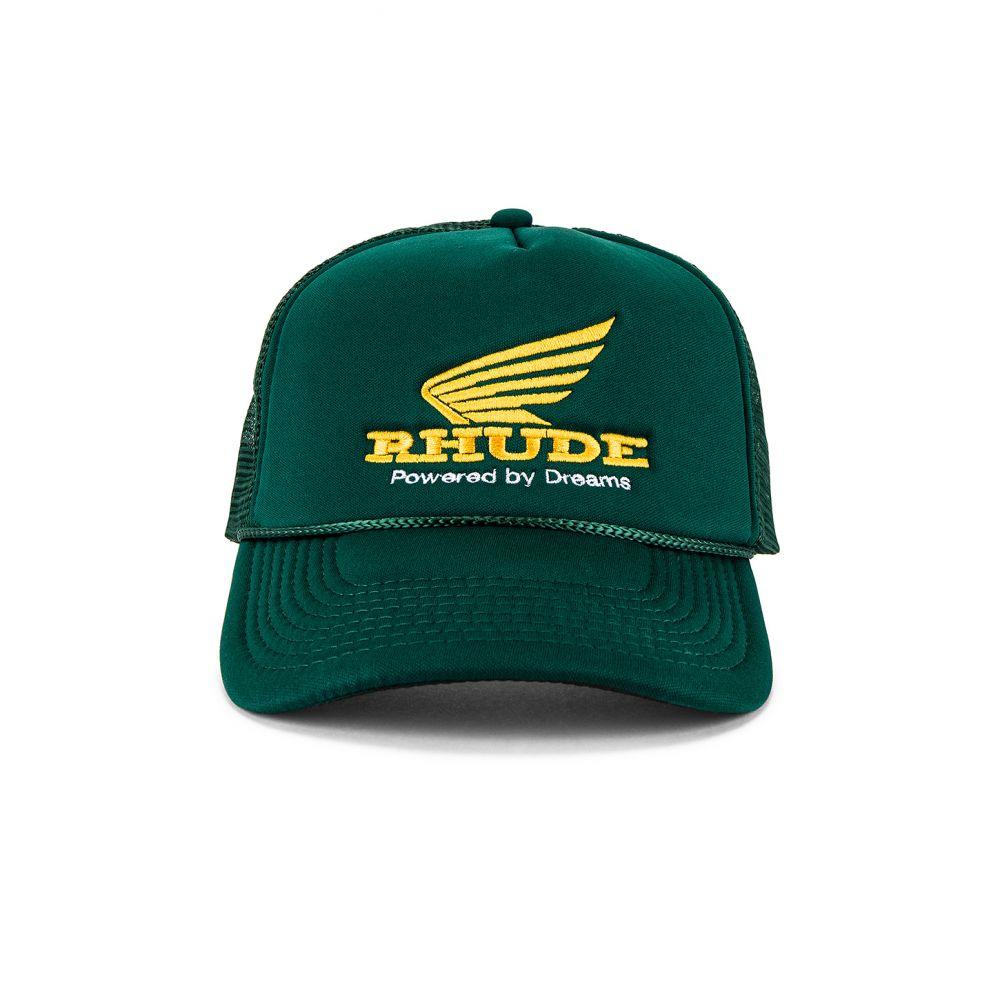 ルード メンズ 帽子 キャップ Green/Yellow 【サイズ交換無料】 ルード Rhude メンズ キャップ 帽子【Rhonda Trucker Cap】Green/Yellow
