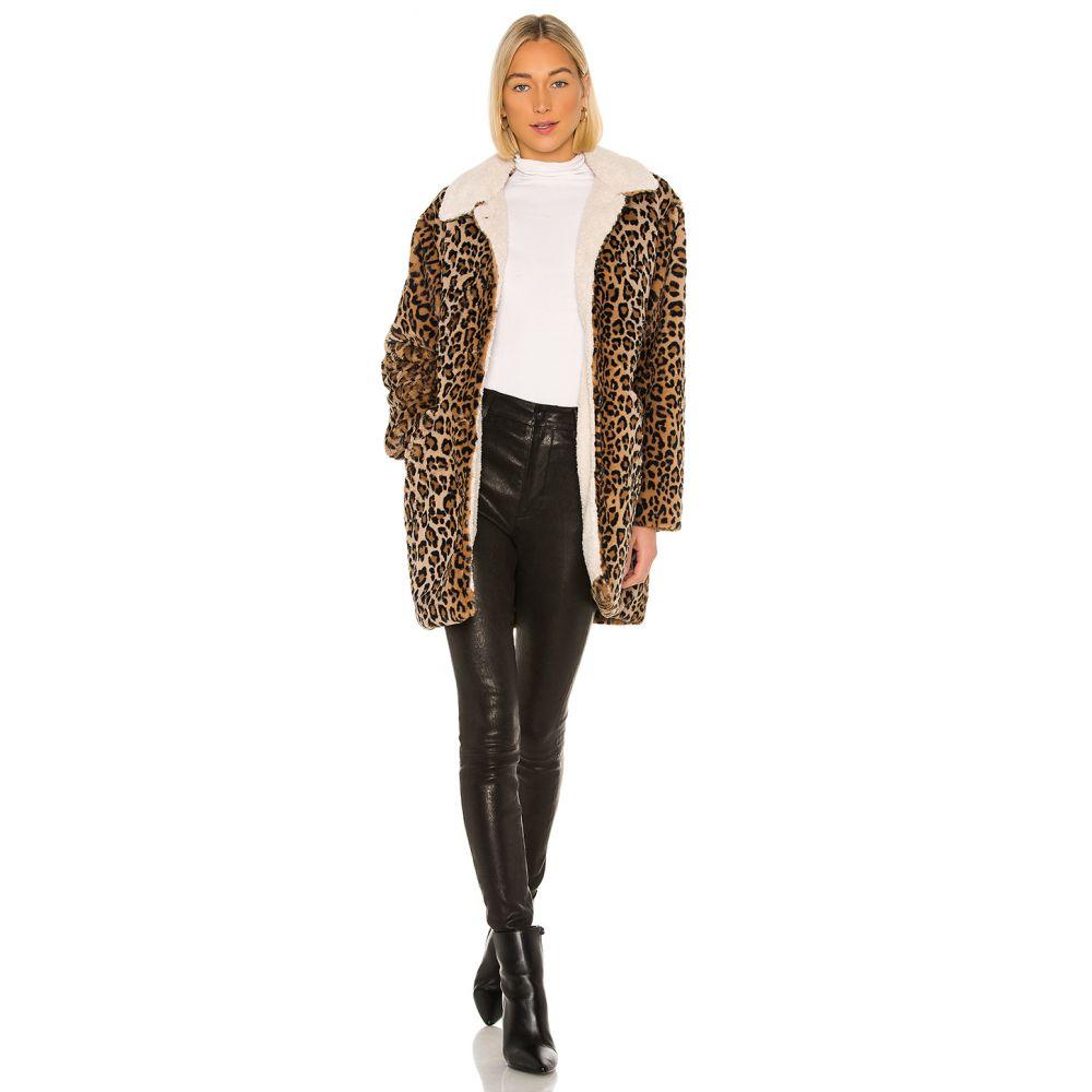 サンクチュアリ Sanctuary レディース コート ファーコート アウター【Sierra Faux Fur Coat】Leopard/Sherpa
