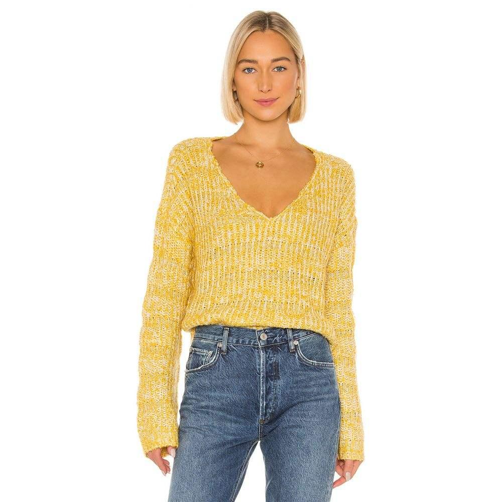 トゥラロサ Tularosa レディース ニット・セーター トップス【Kat Sweater】Yellow