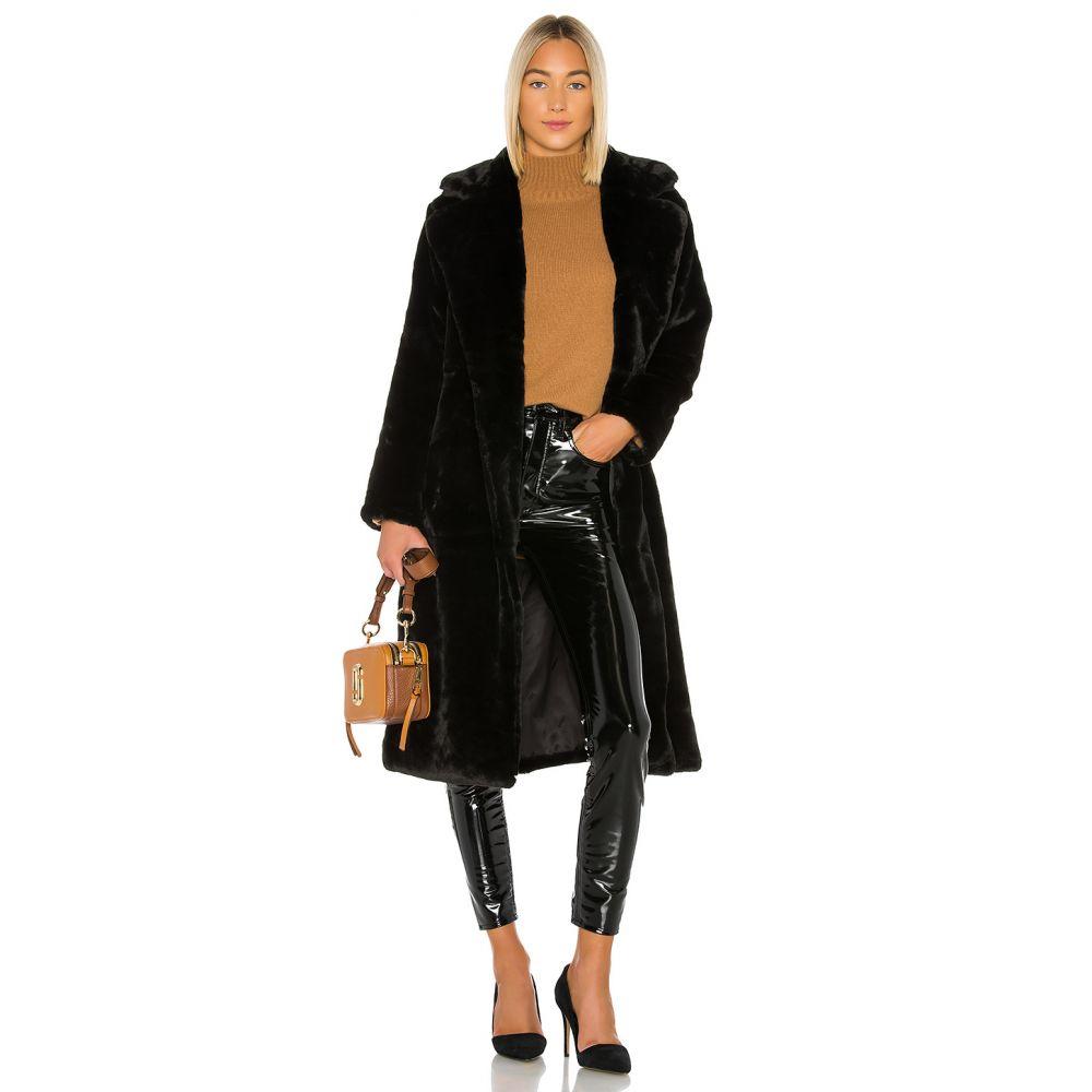 アパリス Apparis レディース コート ファーコート アウター【Mona Faux Fur Coat】Noir