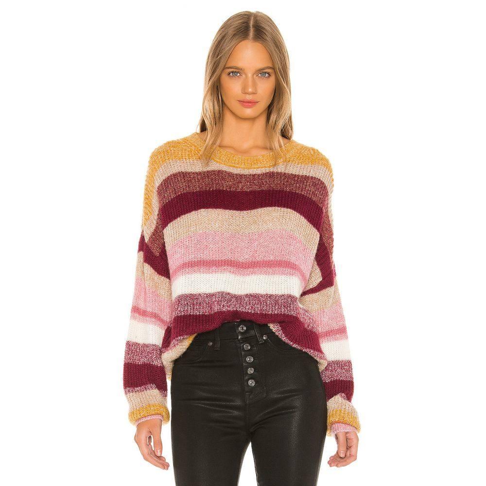 サンクチュアリ Sanctuary レディース ニット・セーター トップス【Blur The Lines Striped Sweater】Garnet Stripe