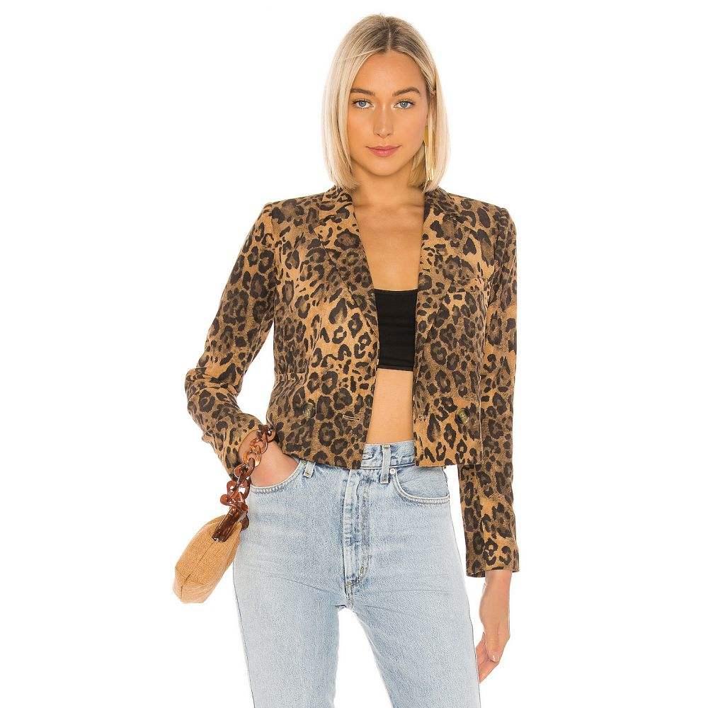 ラヴァーズフレンズ Lovers + Friends レディース ジャケット アウター【Atlanta Jacket】Leopard