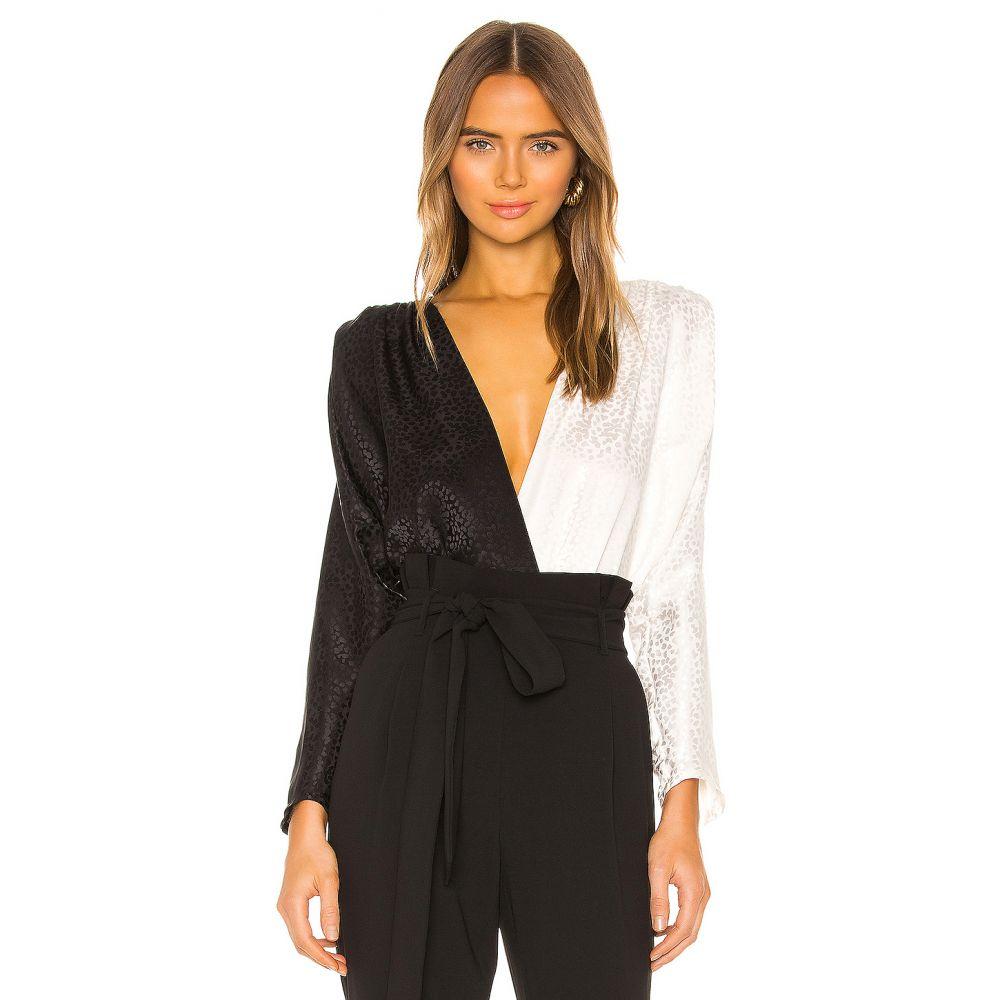 ノンシャラン NONchalant レディース ボディースーツ インナー・下着【Cora Color Block Bodysuit】White/Black