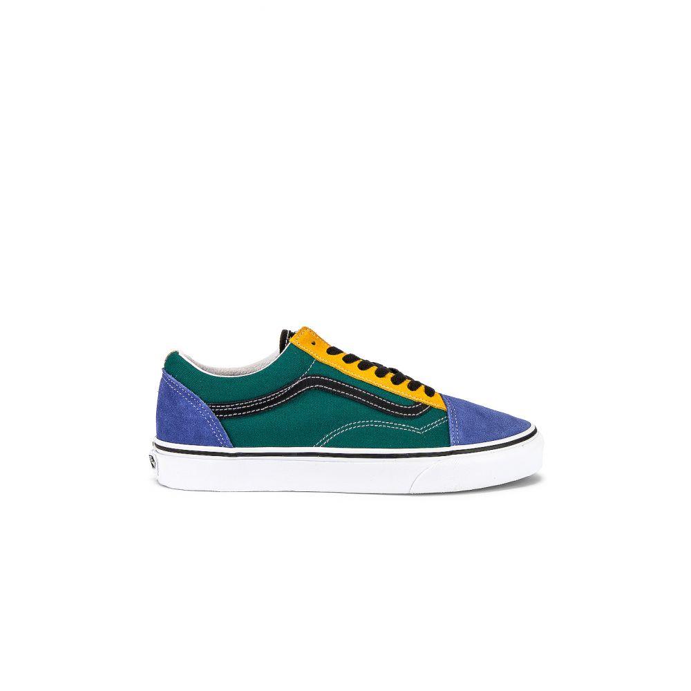 ヴァンズ Vans レディース スニーカー シューズ・靴【Old Skool】Cadmium Yellow/Tidepool