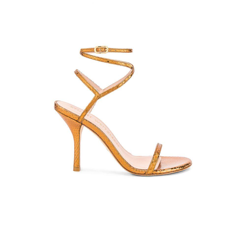 スチュアート ワイツマン Stuart Weitzman レディース ヒール シューズ・靴【Merinda Heel】Bronze Snake