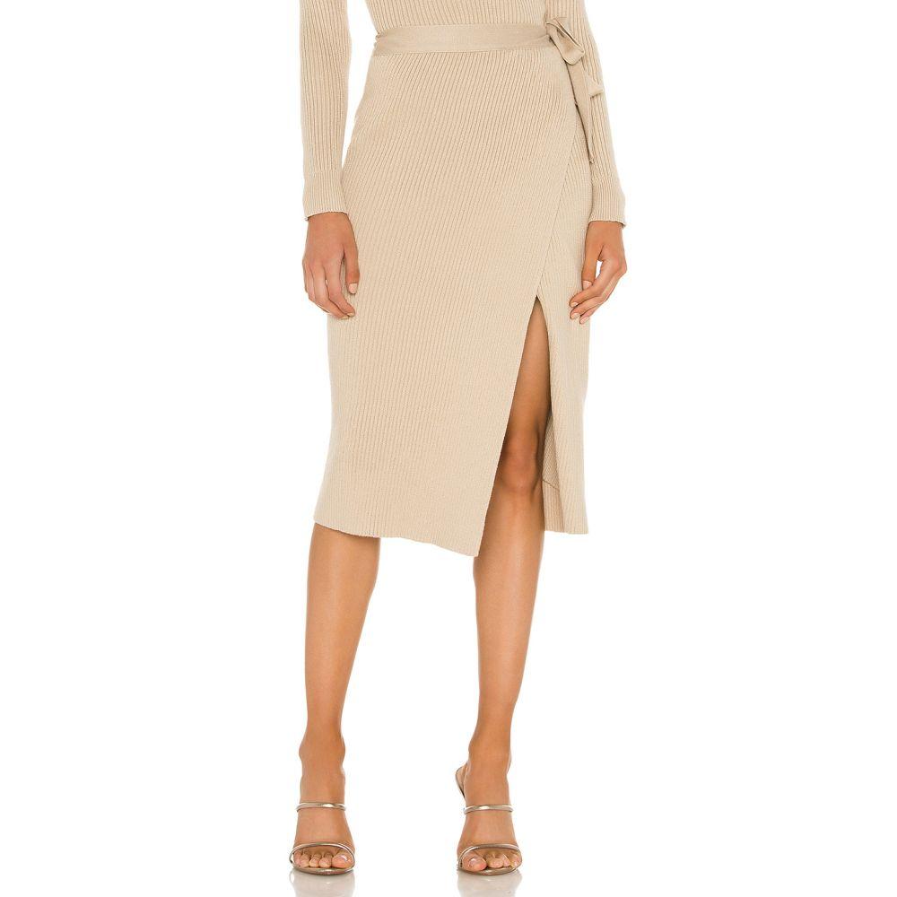 ライン アンド ドット Line & Dot レディース スカート ラップスカート【Alyssa Sweater Set Wrap Skirt】Taupe
