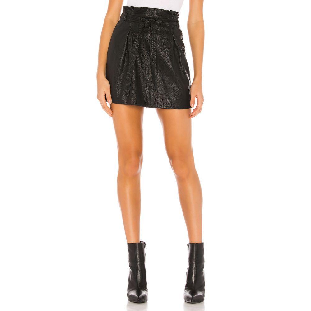 フリーピープル Free People レディース ミニスカート スカート【Payton Paperbag Mini Skirt】Black