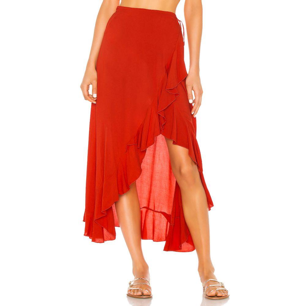 インダー Indah レディース スカート ラップスカート【Reese Wrap Skirt】Fire