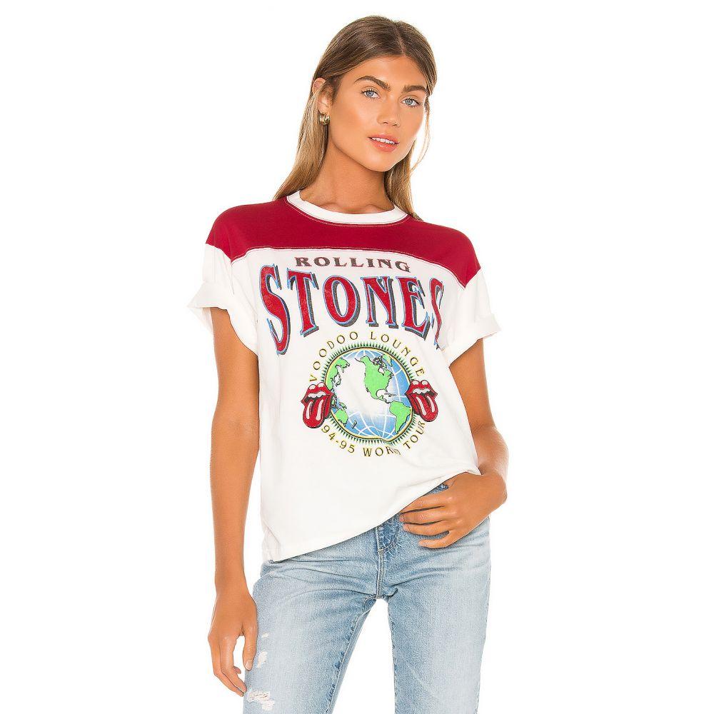 デイドリーマー DAYDREAMER レディース Tシャツ トップス【Rolling Stones Vodoo Lounge Varsity Tee】Vintage White