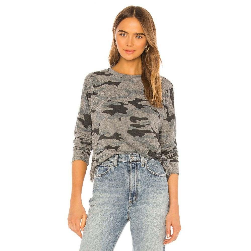 サンドリー SUNDRY レディース スウェット・トレーナー トップス【Camo Oversized Sweatshirt】Heather Grey