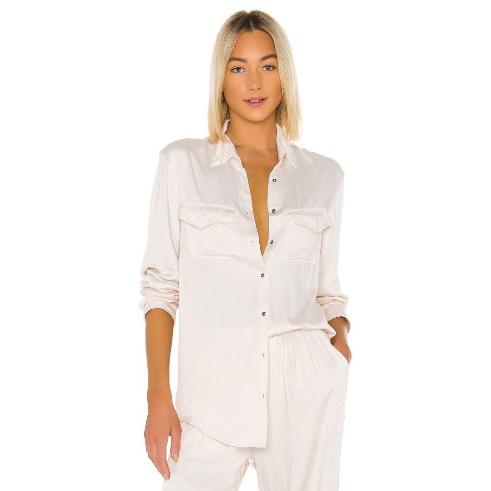 インダー Indah レディース ブラウス・シャツ トップス【Emma Solid Long Sleeve Button Up Shirt】Opal
