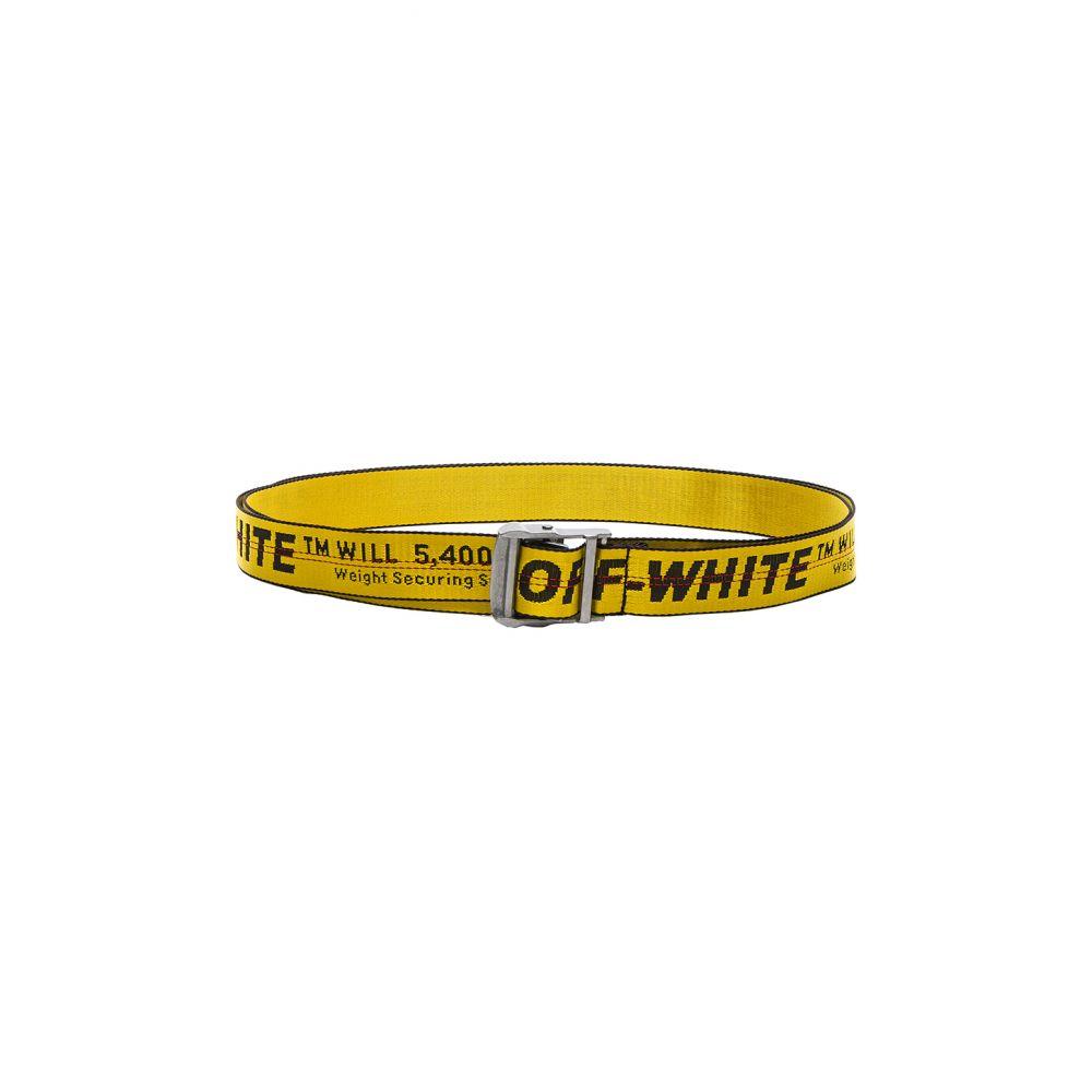オフホワイト OFF-WHITE レディース ベルト 【Industrial Belt】Yellow/Black