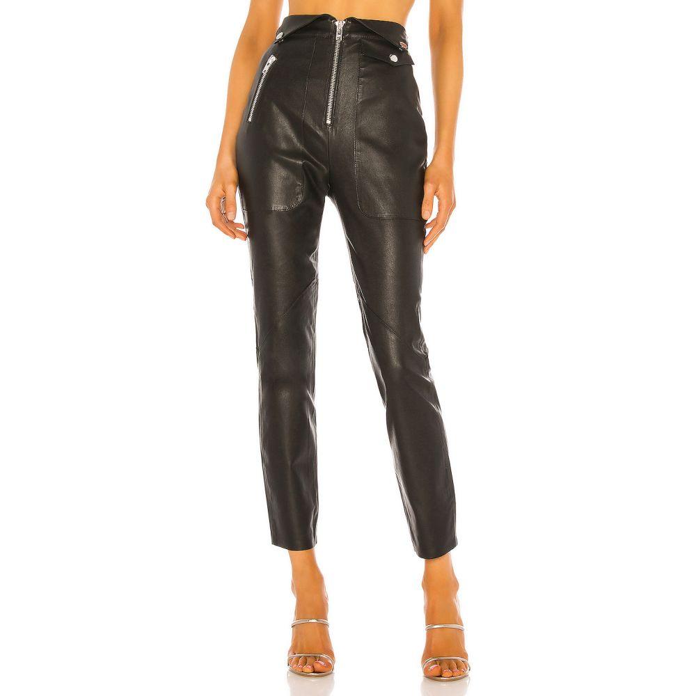 カミラ コエーリョ Camila Coelho レディース ボトムス・パンツ レザーレギンス【Lindo Leather Leggings】Black