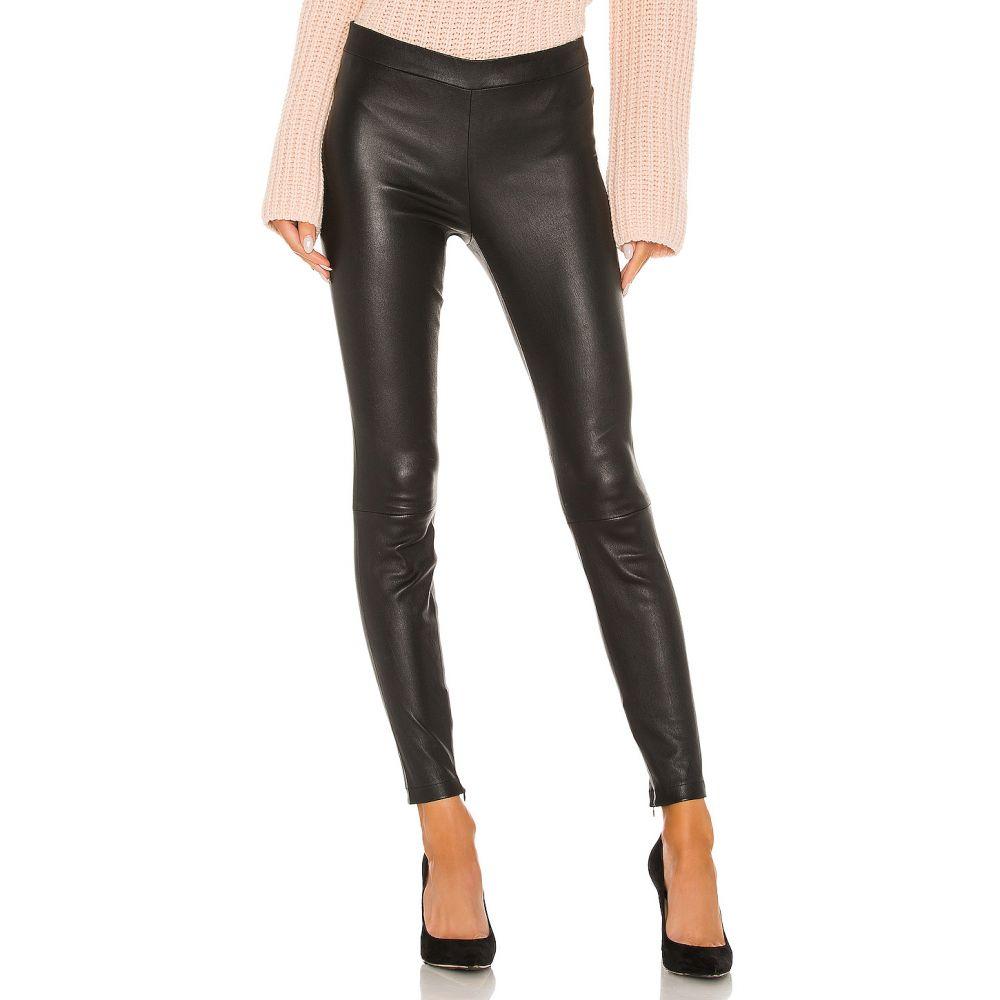 ヴィンス Vince レディース ボトムス・パンツ 【Leather Zip Legging】Black