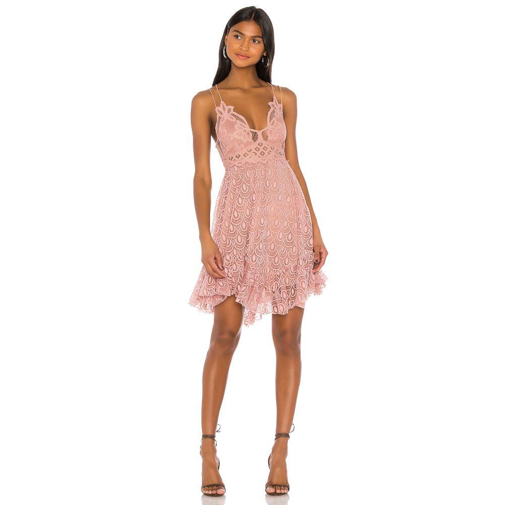 フリーピープル Free People レディース ワンピース スリップドレス ワンピース・ドレス【Adella Burnout Velvet Slip Dress】Rose
