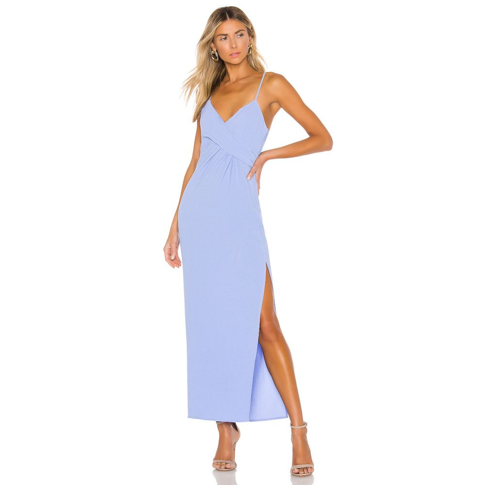 エヌビーディー NBD レディース パーティードレス ワンピース・ドレス【Saanvi Gown】Periwinkle Blue