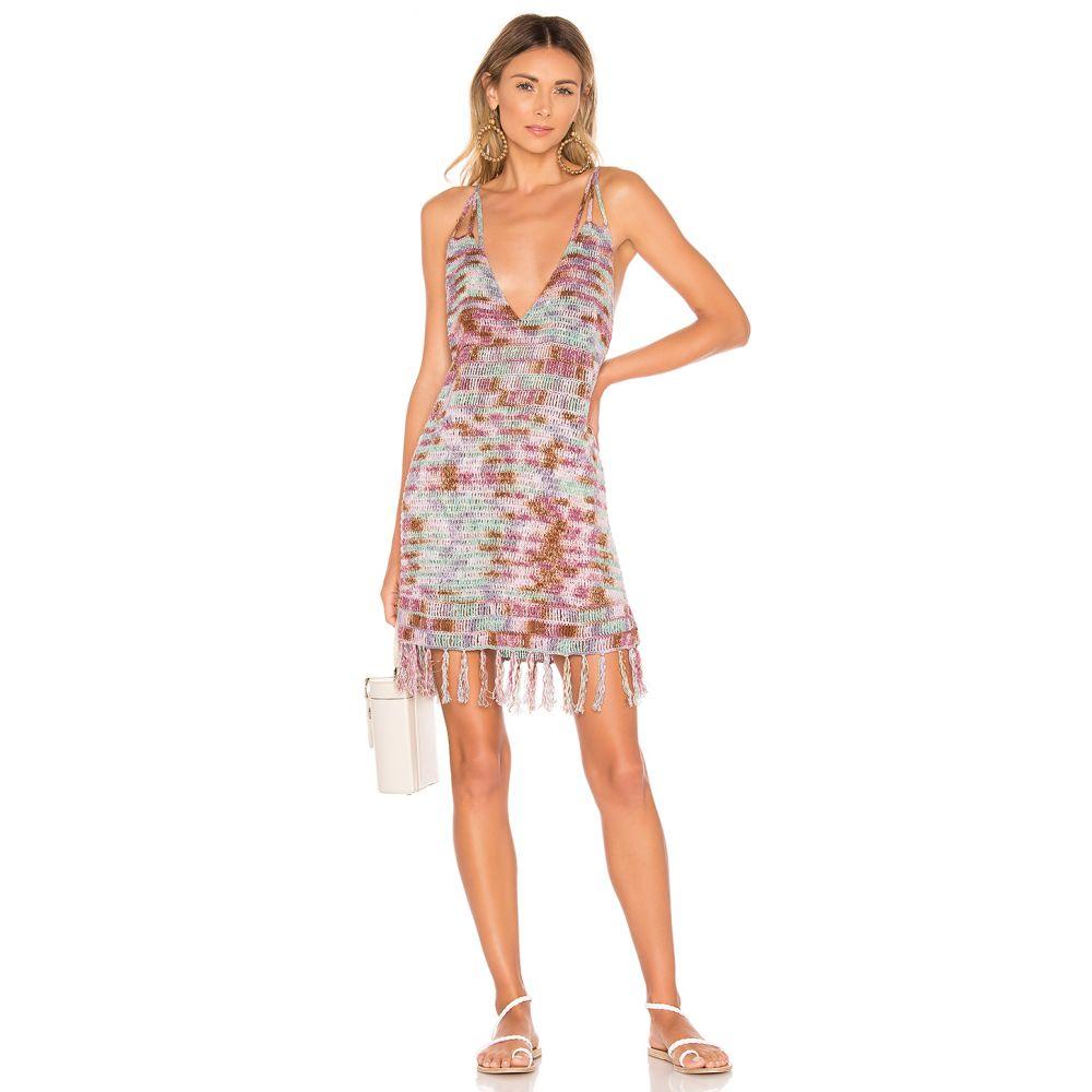 インダー Indah レディース ワンピース ミニ丈 ワンピース・ドレス【Lorne Batik Crochet Mini Dress】Space Dye