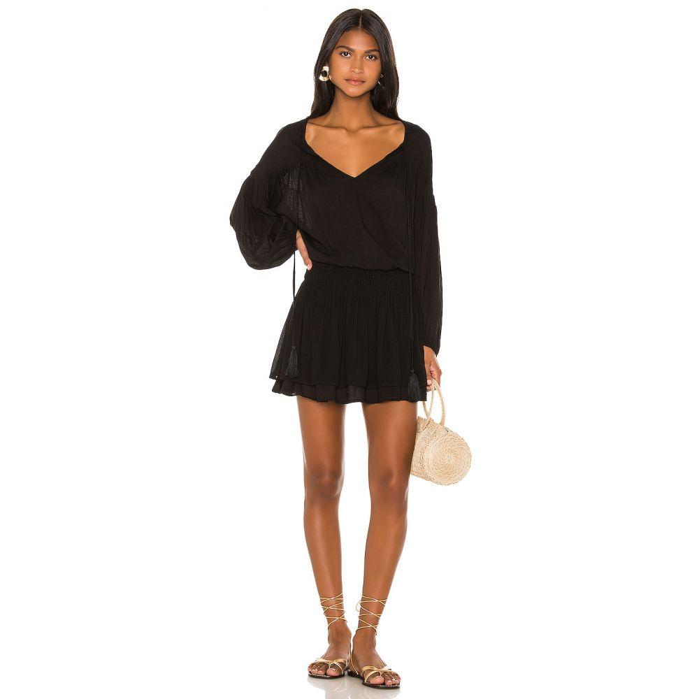 インダー Indah レディース ワンピース ミニ丈 ワンピース・ドレス【Sashi Solid Blouson Mini Dress】Black