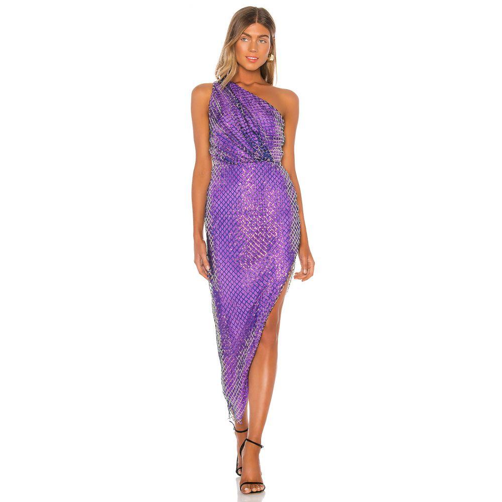 ミシェル メイソン Michelle Mason レディース ワンピース ワンピース・ドレス【One Shoulder Dress】Grape
