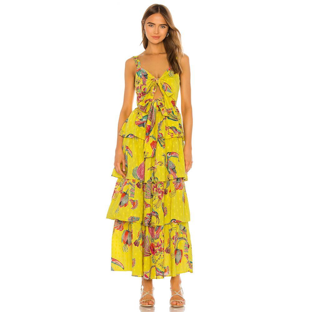 バンジャナン Banjanan レディース ワンピース ワンピース・ドレス【X REVOLVE Aster Dress】Birdie Print Buttercup