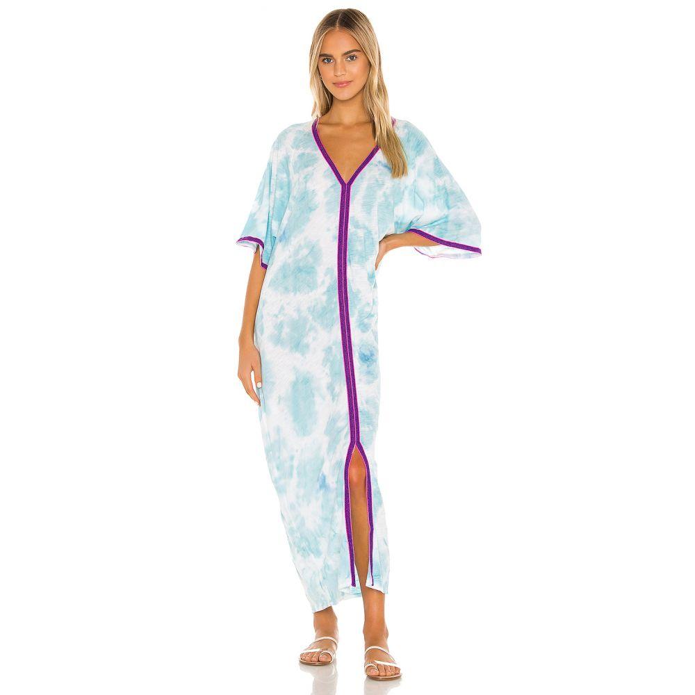 ピトゥサ Pitusa レディース ビーチウェア カフタン 水着・ビーチウェア【Tie Dye Kaftan】Light Blue
