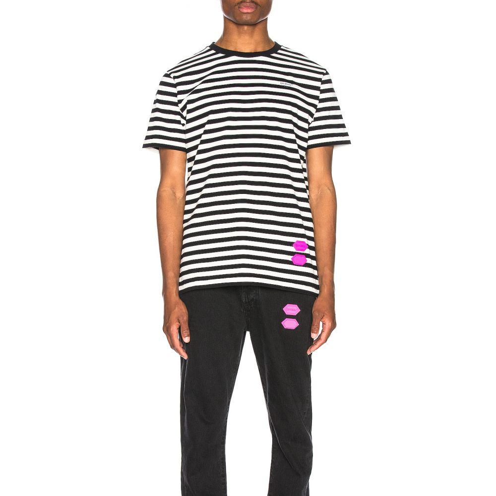 オフホワイト OFF-WHITE メンズ Tシャツ トップス【EXCLUSIVE Striped Tee】Black