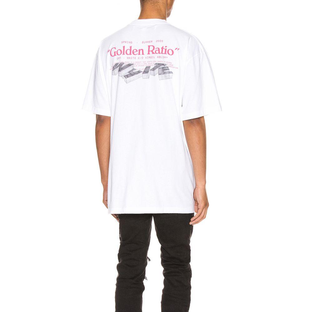 オフホワイト OFF-WHITE メンズ Tシャツ トップス【Golden Ratio Over Tee】White Multi