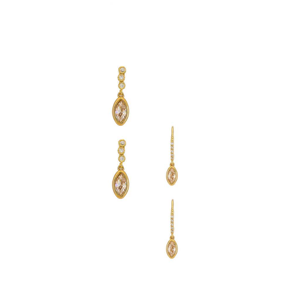 リリクラスプ Lili Claspe レディース イヤリング・ピアス ジュエリー・アクセサリー【Mya Stud & Layla Hook Earring Set】Gold