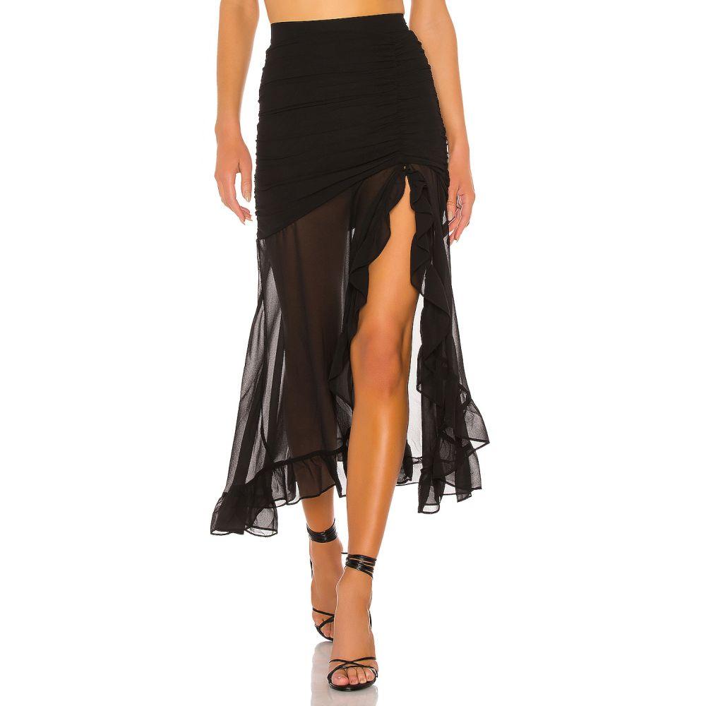 フリンスカイ FLYNN SKYE レディース ひざ丈スカート スカート【Erie Skirt】Black