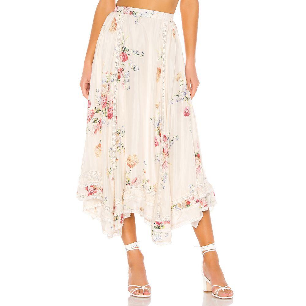 ラブシャックファンシー LoveShackFancy レディース スカート 【Navya Skirt】Natural Cream