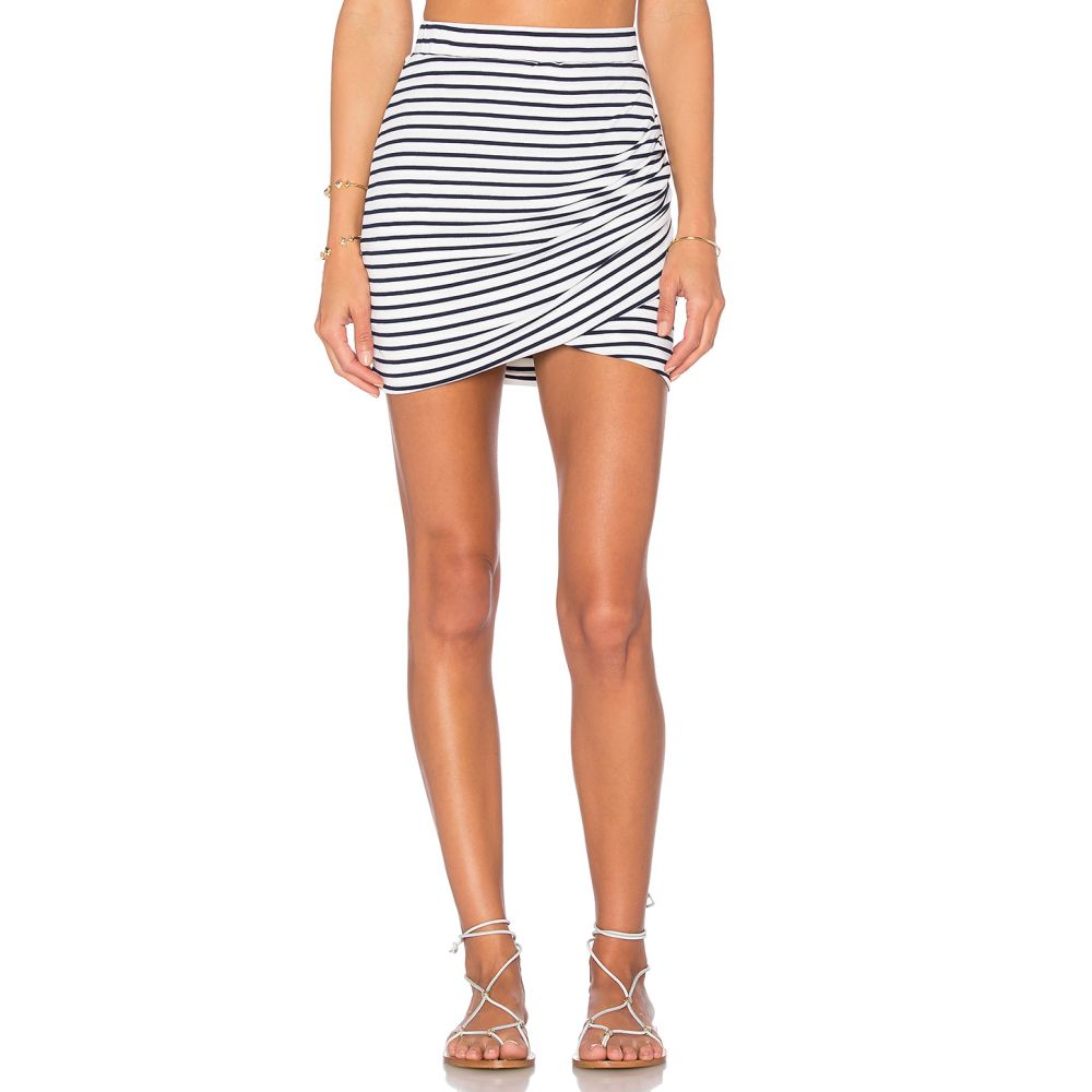 ラヴァーズフレンズ Lovers + Friends レディース スカート 【Voyage Skirt】Navy Stripe
