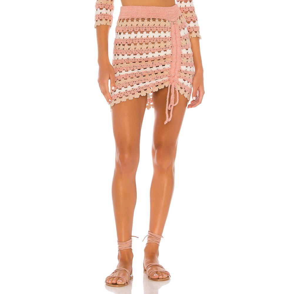 ラヴァーズフレンズ Lovers + Friends レディース スカート 【Theadora Skirt】Strawberry Stripe
