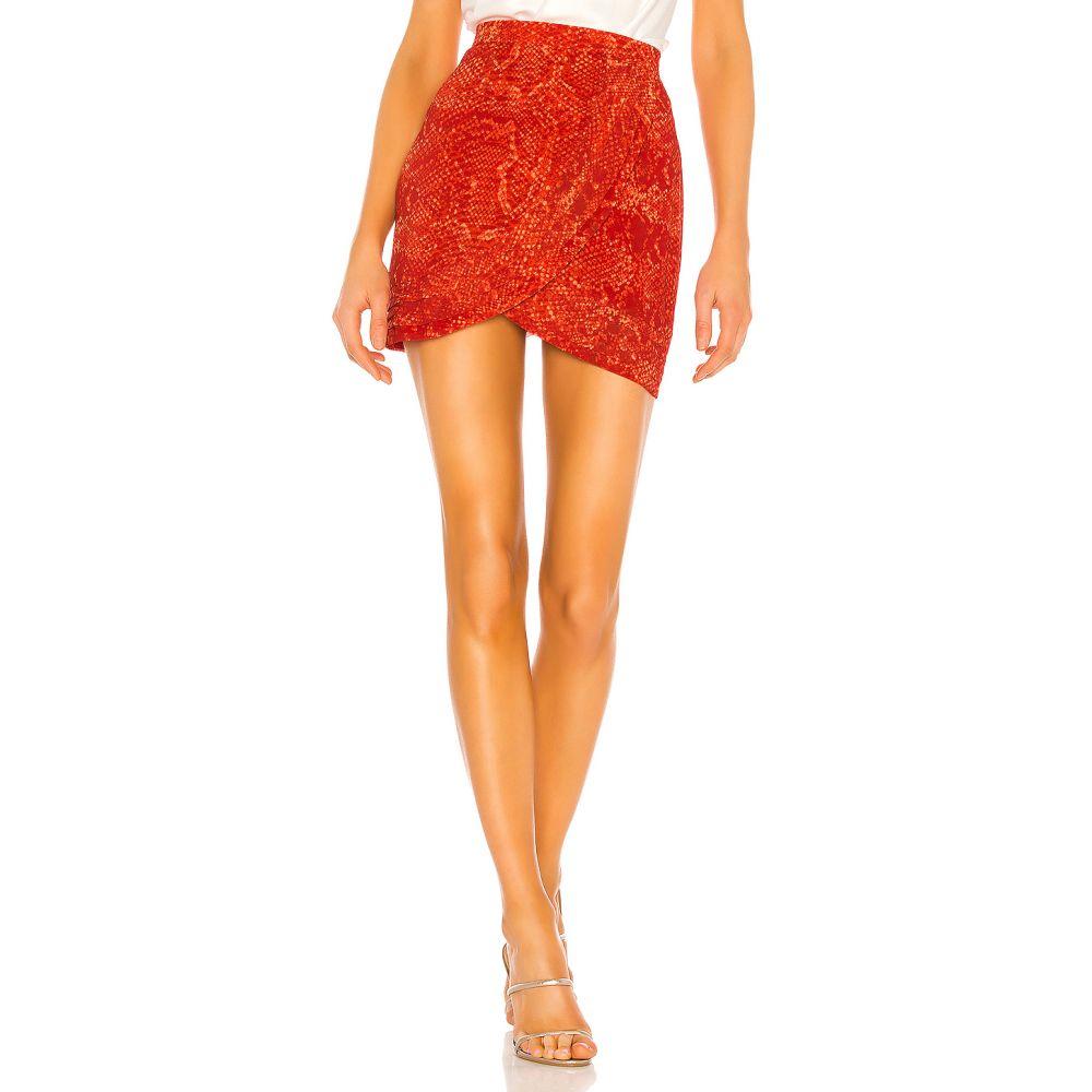 エヌビーディー NBD レディース スカート 【Tamar Skirt】Red Orange Snake