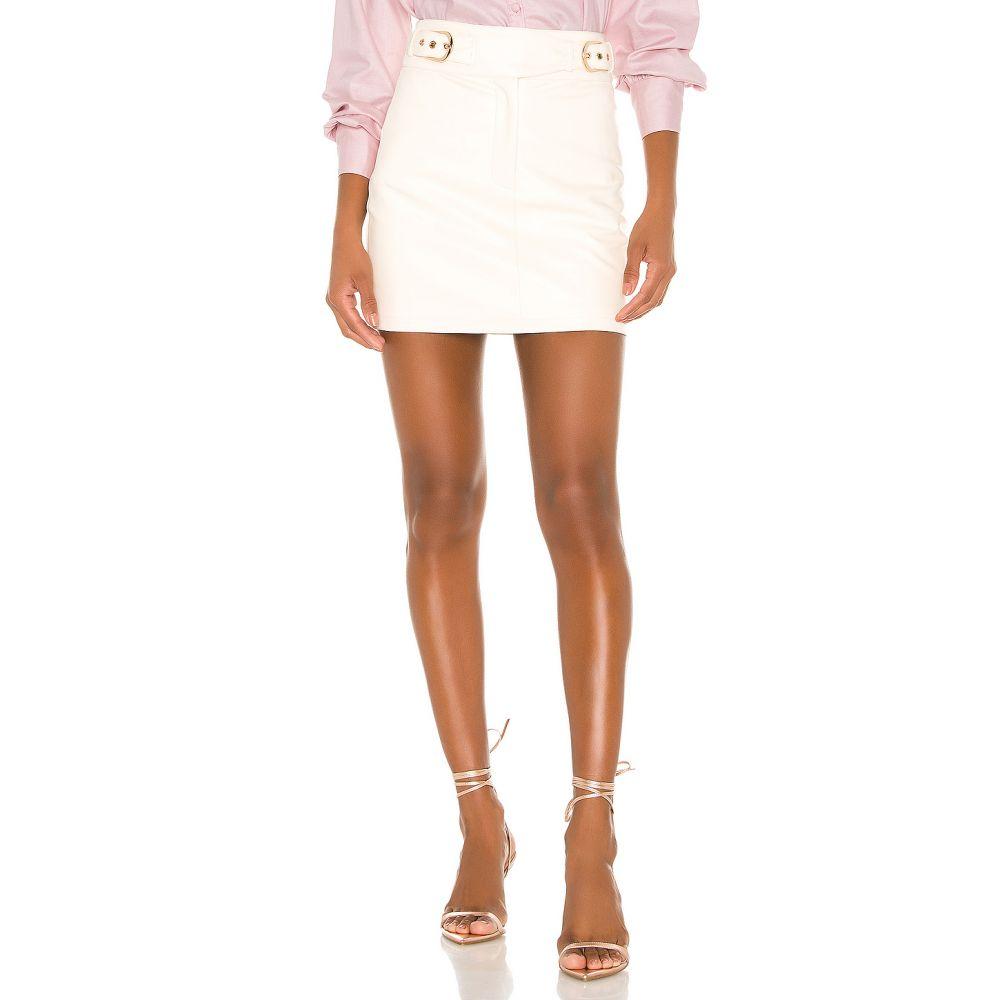カミラ コエーリョ Camila Coelho レディース ミニスカート スカート【Isabela Mini Skirt】Ivory