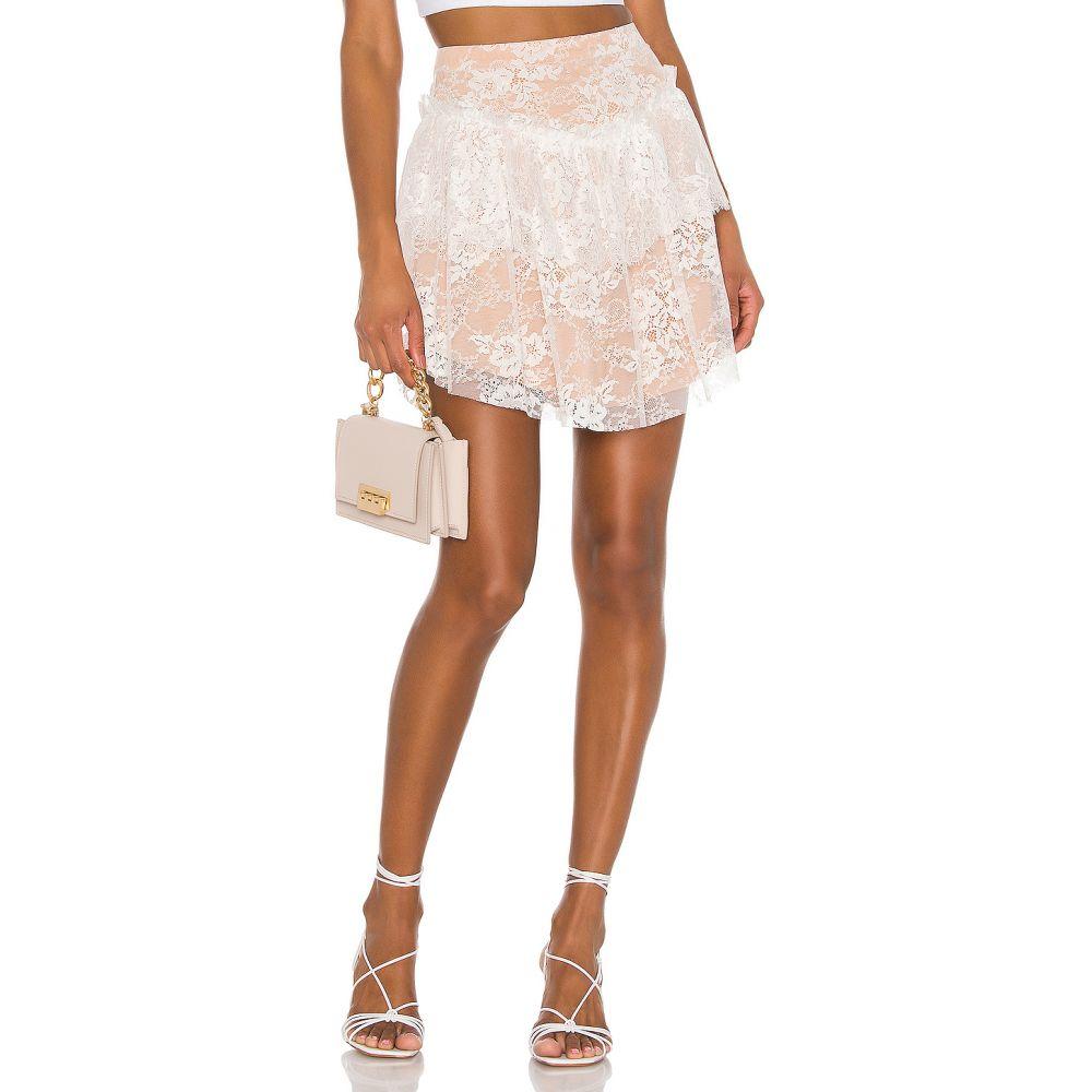 フォーラブアンドレモン For Love & Lemons レディース ミニスカート スカート【Verbena Lace Mini Skirt】Ivory Lace
