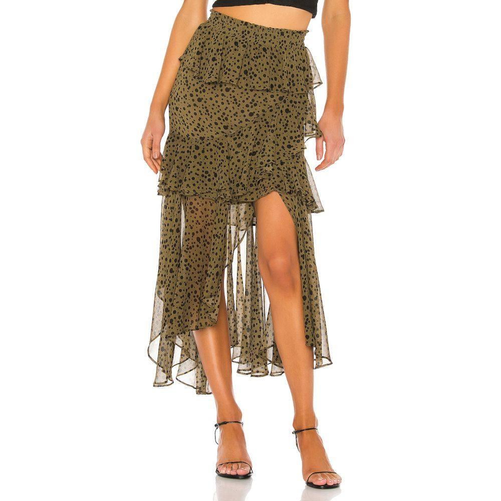 ミサロサンゼルス MISA Los Angeles レディース ひざ丈スカート スカート【Kiana Skirt】Green Dot