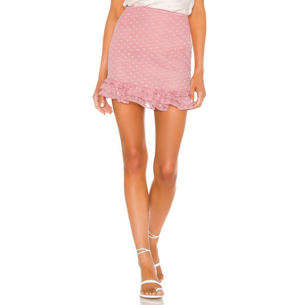 プライバシー プリーズ Privacy Please レディース ミニスカート スカート【Rose Mini Skirt】Peony Pink