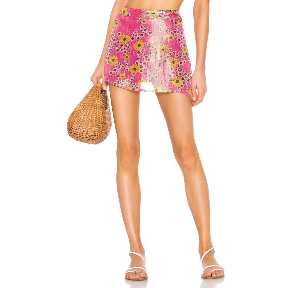 ロココ ROCOCO SAND レディース ミニスカート スカート【x REVOLVE Mini Skirt】Pink Floral