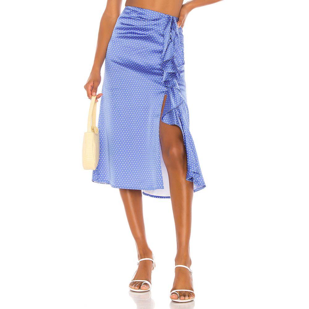 ソング オブ スタイル Song of Style レディース ひざ丈スカート スカート【Delta Midi Skirt】Blue Dot