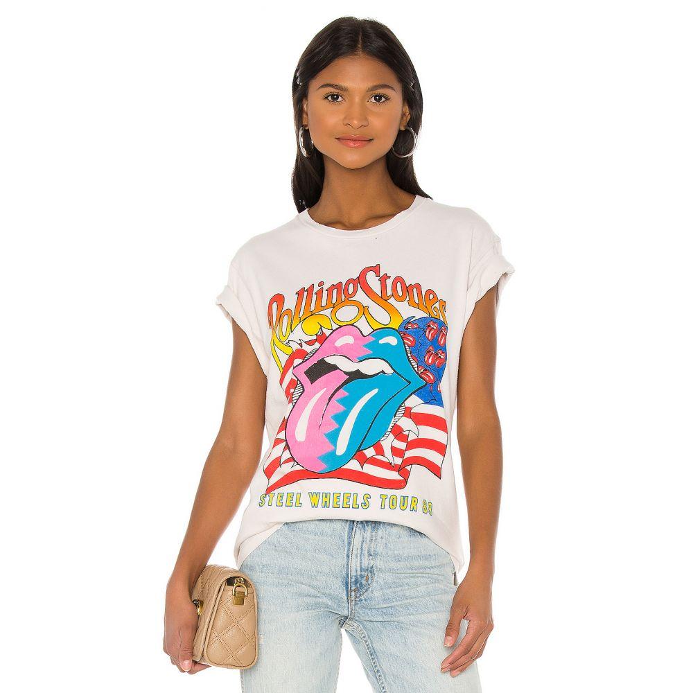 メイド ウォーン Madeworn レディース Tシャツ トップス【X REVOLVE Rolling Stones Steels Wheels Tee】White