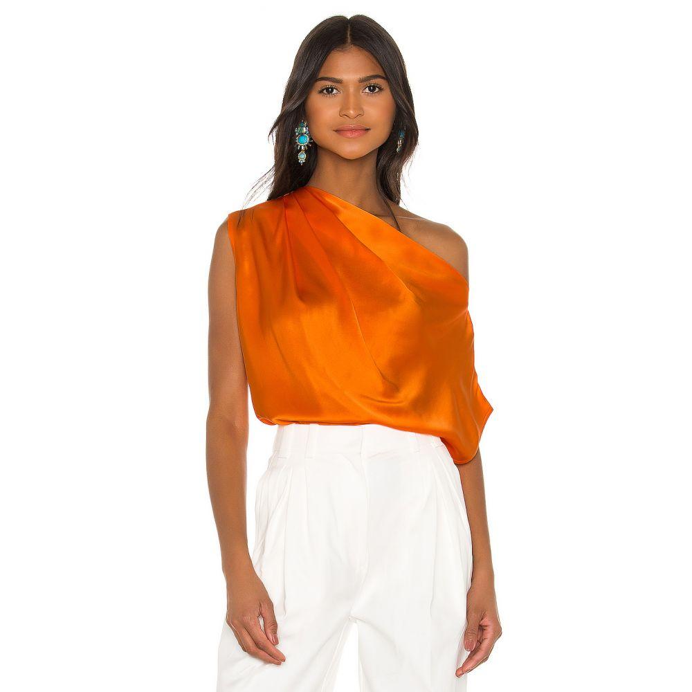 ミシェル メイソン Michelle Mason レディース トップス 【x REVOLVE Asymmetrical Drape Top】Kumquat