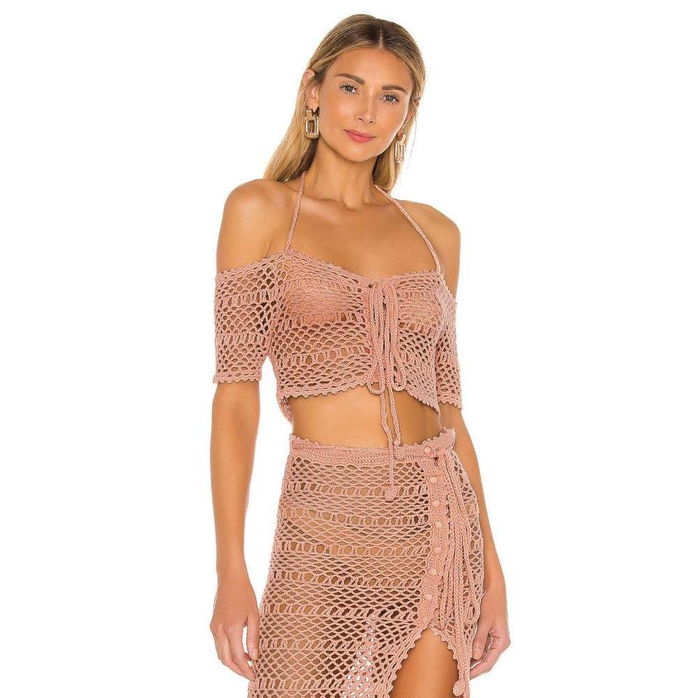 マジョレル MAJORELLE レディース トップス 【Dura Crochet Top】Pink