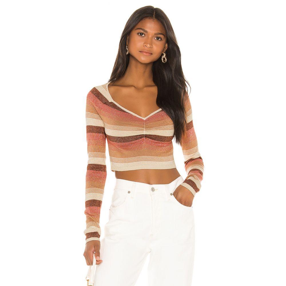 カミラ コエーリョ Camila Coelho レディース ニット・セーター トップス【Ginger Sweater】Sandstorm Stripe