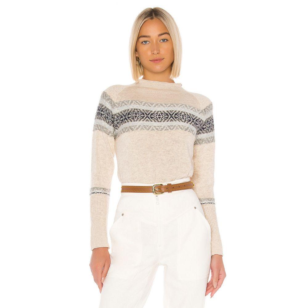 チェイサー Chaser レディース ニット・セーター トップス【Fair Isle Mock Neck Pullover Sweater】Natural