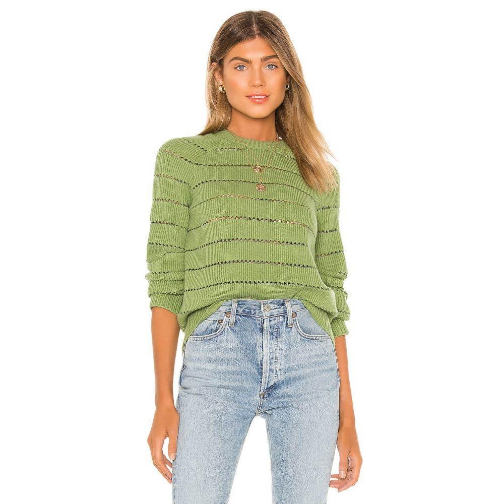 ハウスオブハーロウ1960 House of Harlow 1960 レディース ニット・セーター トップス【x REVOLVE Persus Sweater】Green/Silver