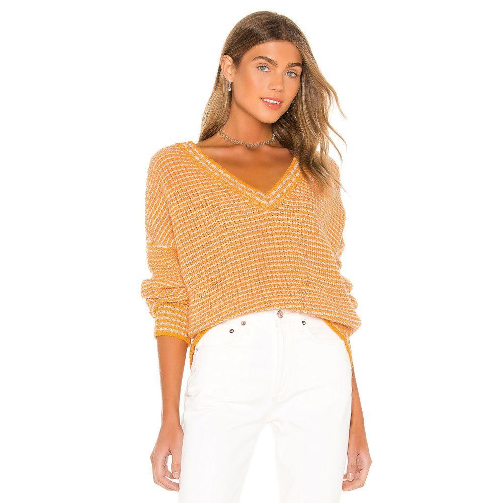 ラヴァーズフレンズ Lovers + Friends レディース ニット・セーター トップス【Renley Sweater】Orange Sherbert
