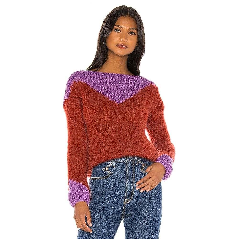 マイアミ Maiami レディース ニット・セーター トップス【Western Sweaterblouse】Rusty Red/Violet