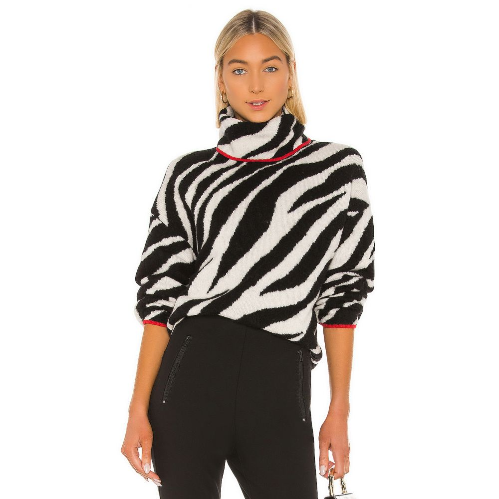 ラグ&ボーン Rag & Bone レディース ニット・セーター トップス【Kiki Funnel Neck Sweater】Black/White